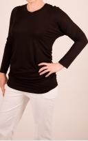 Řasené tričko s dlouhým rukávem